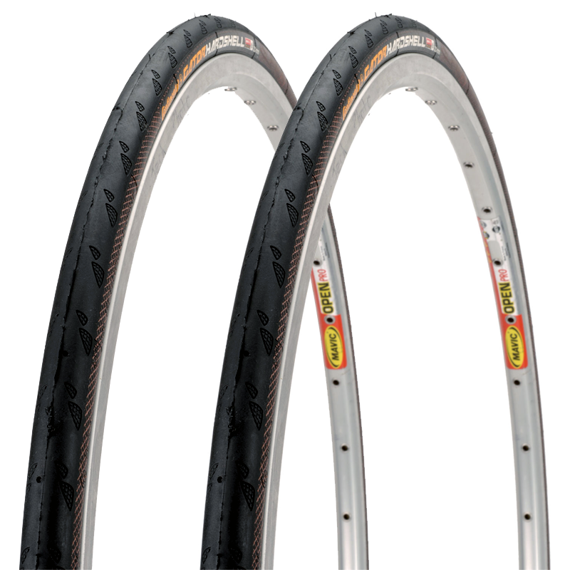 PAIR 700x23c Continental Gator Hardshell Folding Tires Gatorskin 2-Pack