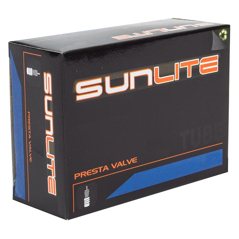 SMOOTH VALVE Bicycle Tube SunLite 700 x 18-23 PV Presta Valve 48mm 27x1