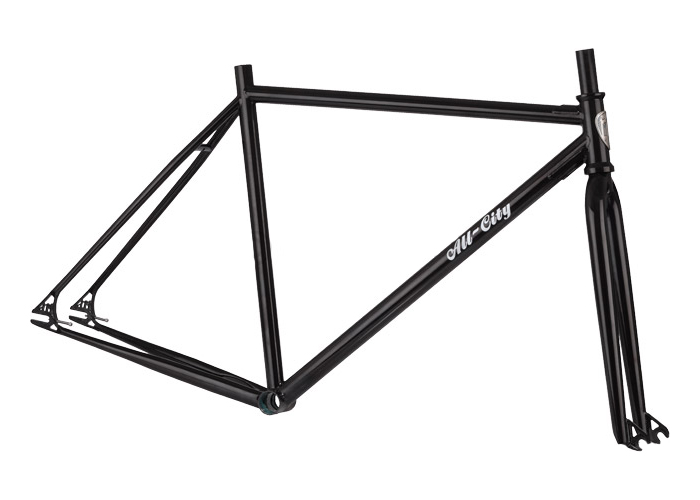 All City Drop Out Fixed Gear Freestyle Frame and Fork BLACK Small ...