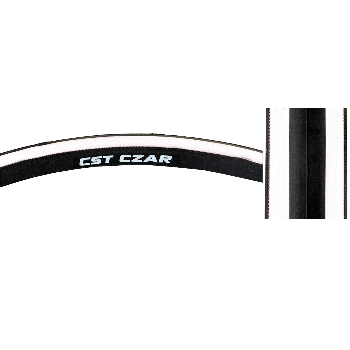 CST Czar Comp Road Tire 700x25c Black Clincher Training Race Fixed Gear Bike