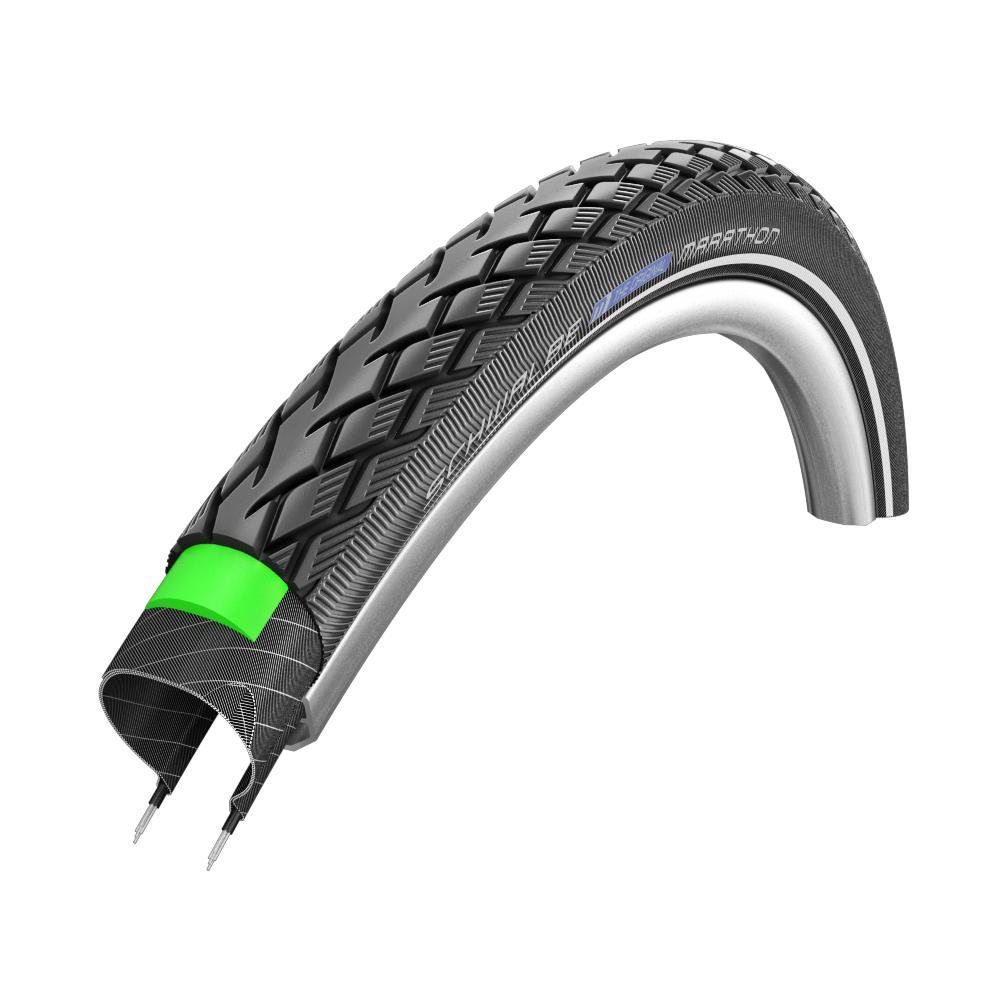 Schwalbe Marathon GreenGuard HS 420 Wire Bead Tire 26x1-3//8in Black Reflex 650A