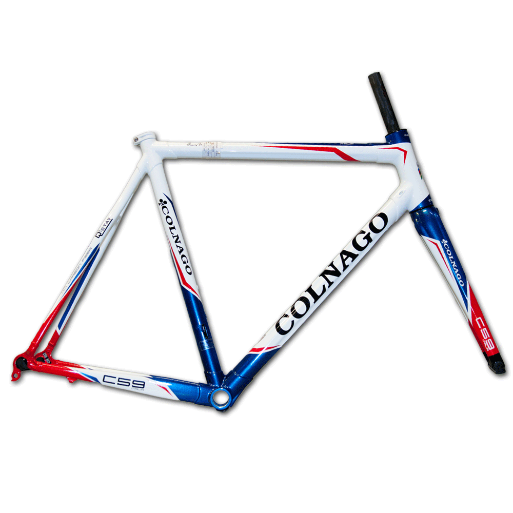 Colnago C59 Italia Carbon Road Bicycle Frameset 58cm White Red