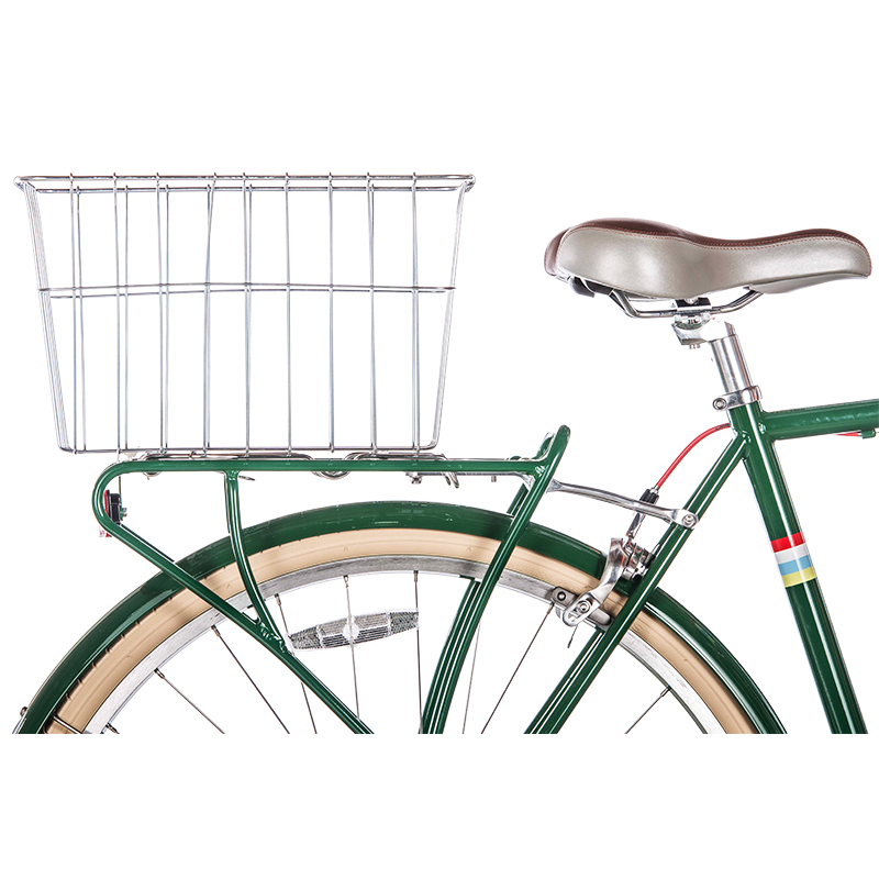 Wald Bicycle Rear Mount Rack Top Basket #585 Grocery Bag Size Polished Silver