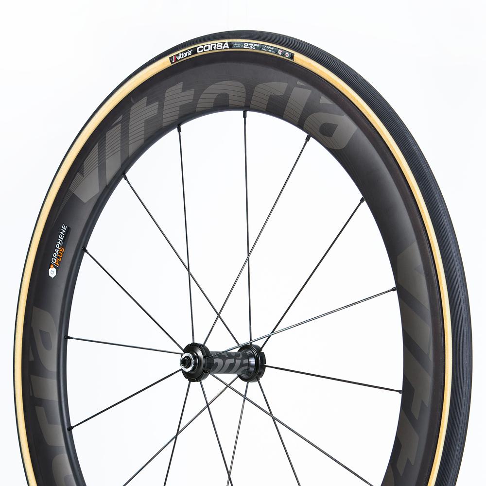 Vittoria Corsa G Graphene clincher 700 x 23c black//Gray sidewall Road Bike Tire