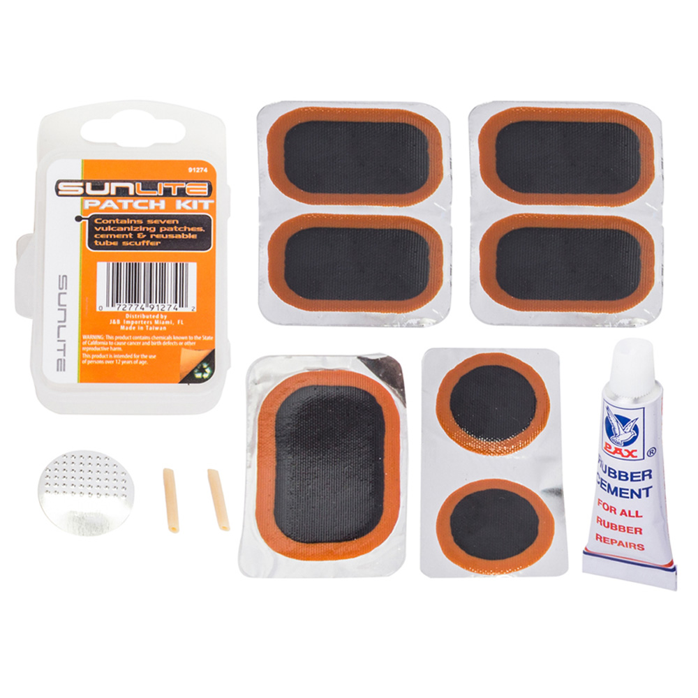 """25mm Count Box Sunlite 1/"""" Round Bicycle Cold Tube Repair Patch // Patches 100"""