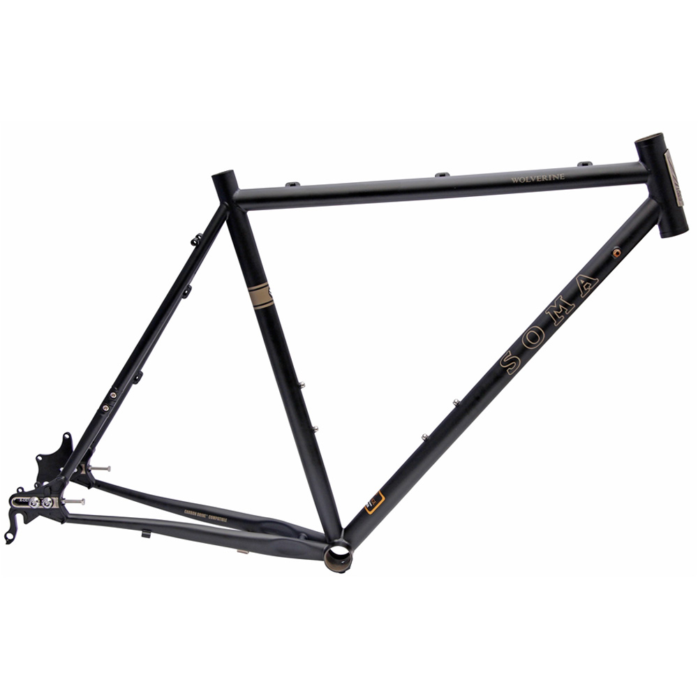 Soma Wolverine Cross Frame Matte Black 50cm Steel Disc
