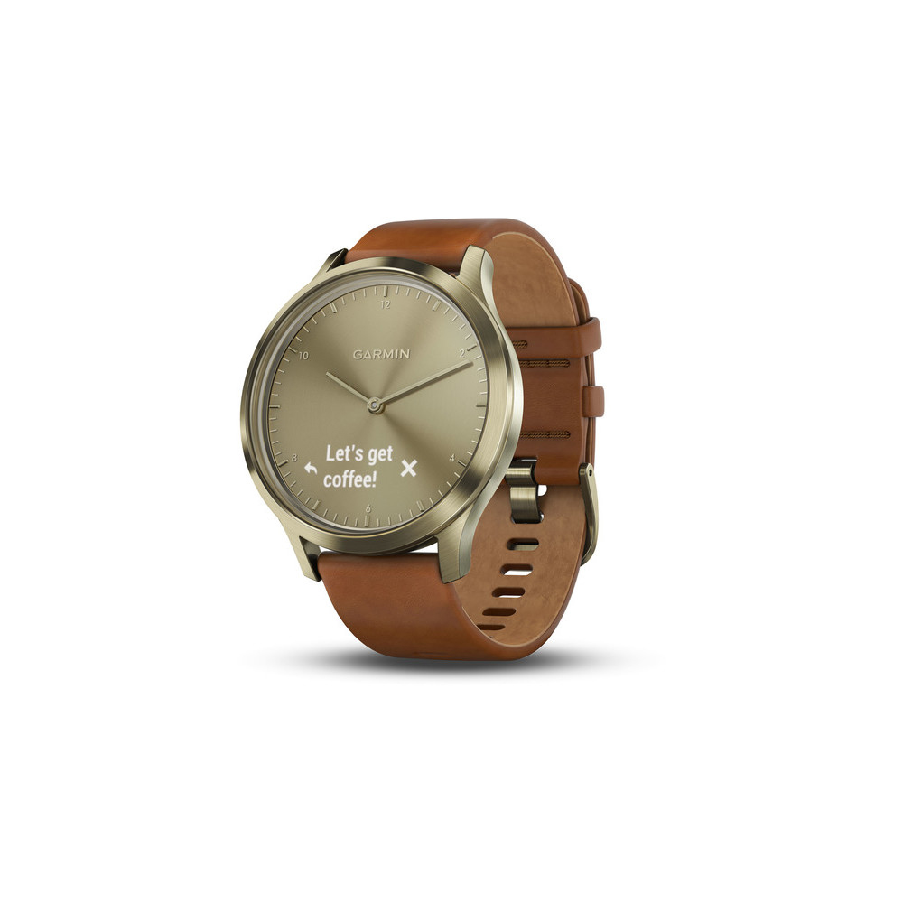 Details about Garmin vivomove HR Premium, Gold, Light Brown Leather, SM