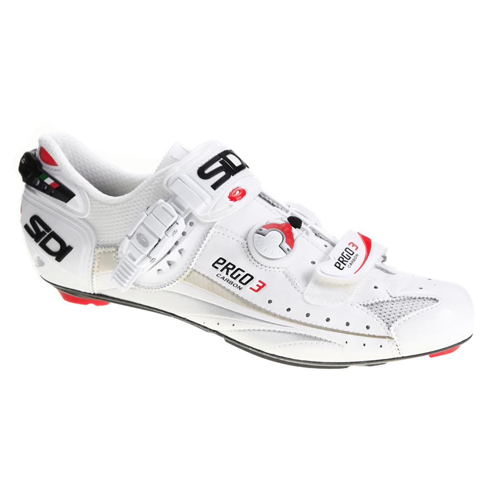 Sidi Ergo 3 Vent Carbon Mens White Vernice Road Shoes EU 45.0 ...